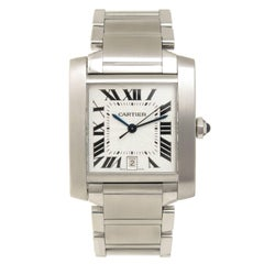 Cartier Stainless Steel Tank Francaise Large Automatic Wristwatch