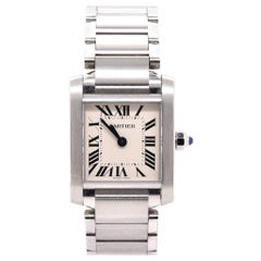 Cartier Stainless Steel Tank Francaise, Small