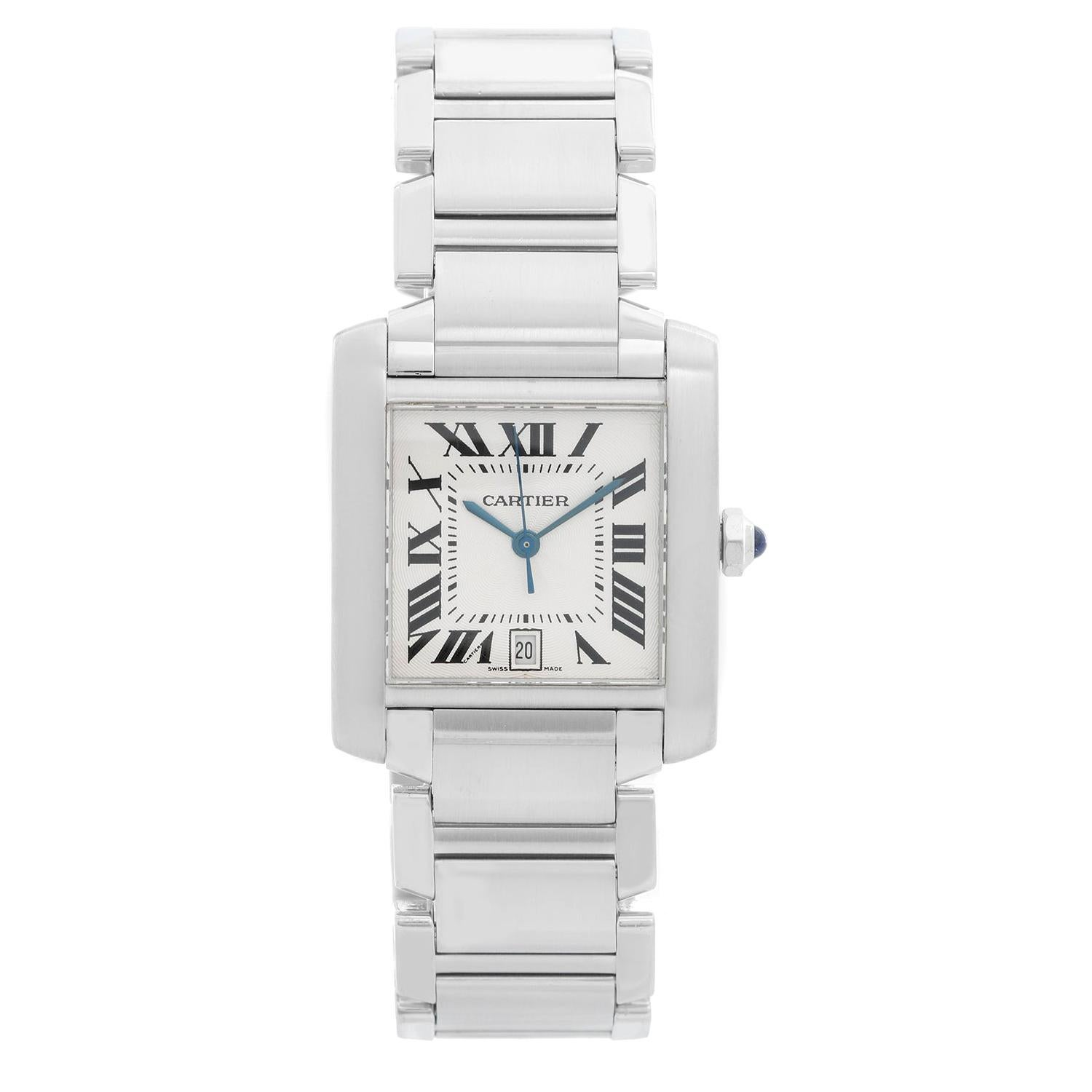 Cartier Stainless Steel Tank Francaise Watch W51002Q3