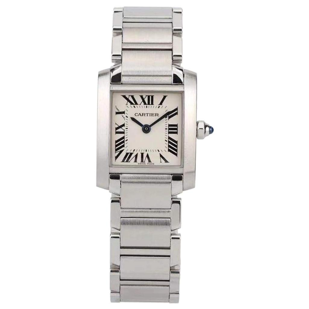 Cartier Stainless Steel Tank Francaise Watch W51011Q3
