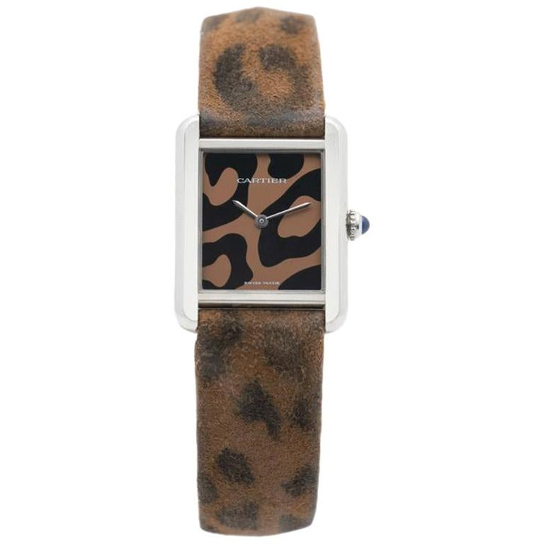 Cartier Stainless Steel Tank Solo Panther Model 3170