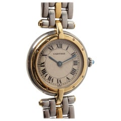 Cartier Stainless Steel Yellow Gold Panthere Vendome Watch