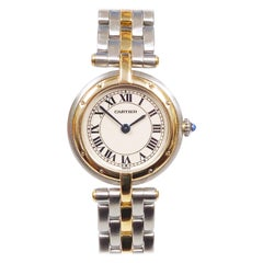Cartier Steel and Yellow Gold Panther Ronde Ladies Quartz Wrist Watch
