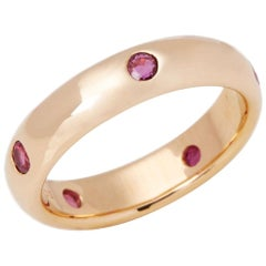 Cartier Stella 18 Carat Gold Ruby Band Ring