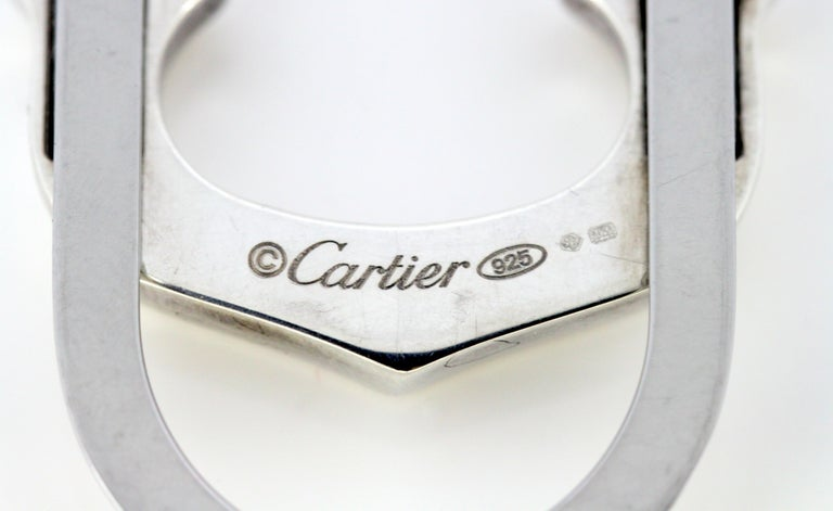 Cartier Sterling Silver Money Clip, 1990s For Sale 1