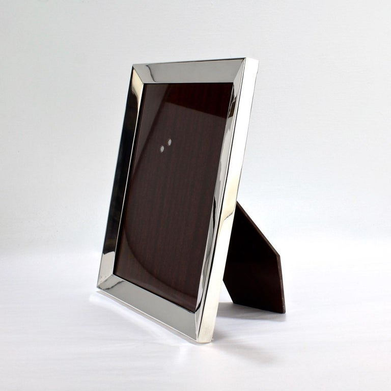 Art Deco Cartier Sterling Silver Picture or Photo Frame For Sale
