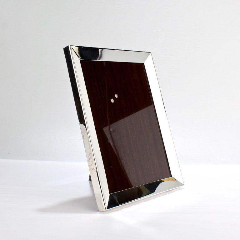 Cartier Sterling Silver Picture or Photo Frame For Sale 1