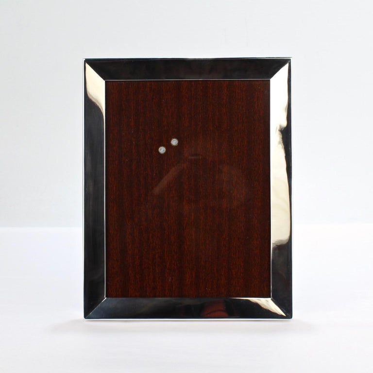 Cartier Sterling Silver Picture or Photo Frame For Sale 2