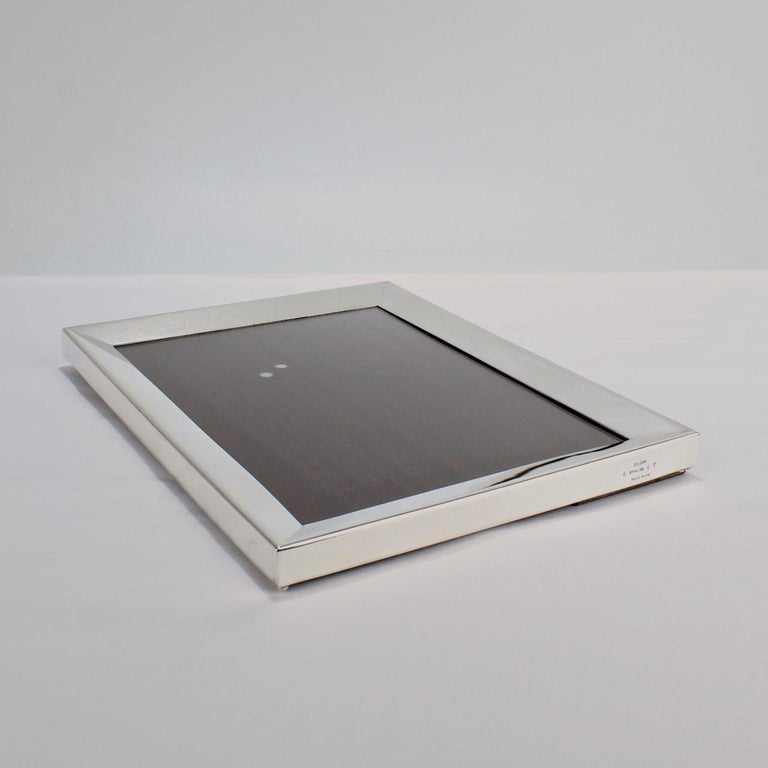 Cartier Sterling Silver Picture or Photo Frame For Sale 3