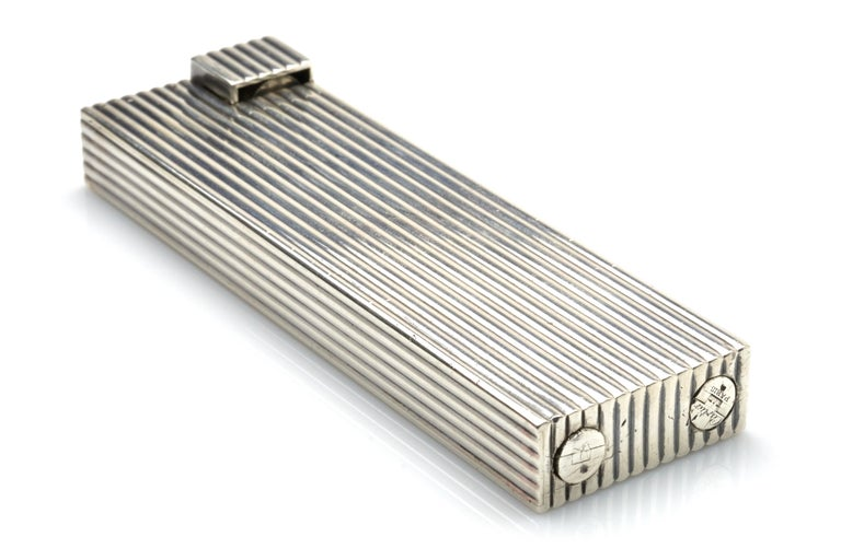 Modern Cartier Sterling Silver Table Lighter, 1930s For Sale
