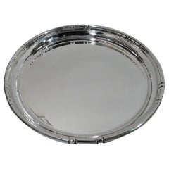 Cartier Sterling Silver Tray in Bamboo Pattern