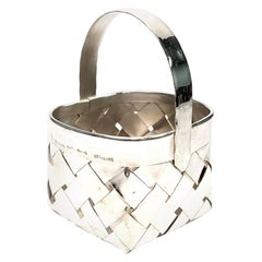 Cartier Sterling Silver Woven Basket