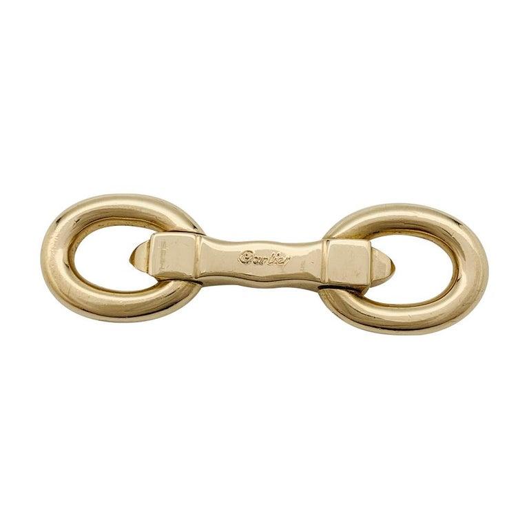 Cartier Stirrups Yellow Gold Cufflinks In Excellent Condition In Paris, IDF