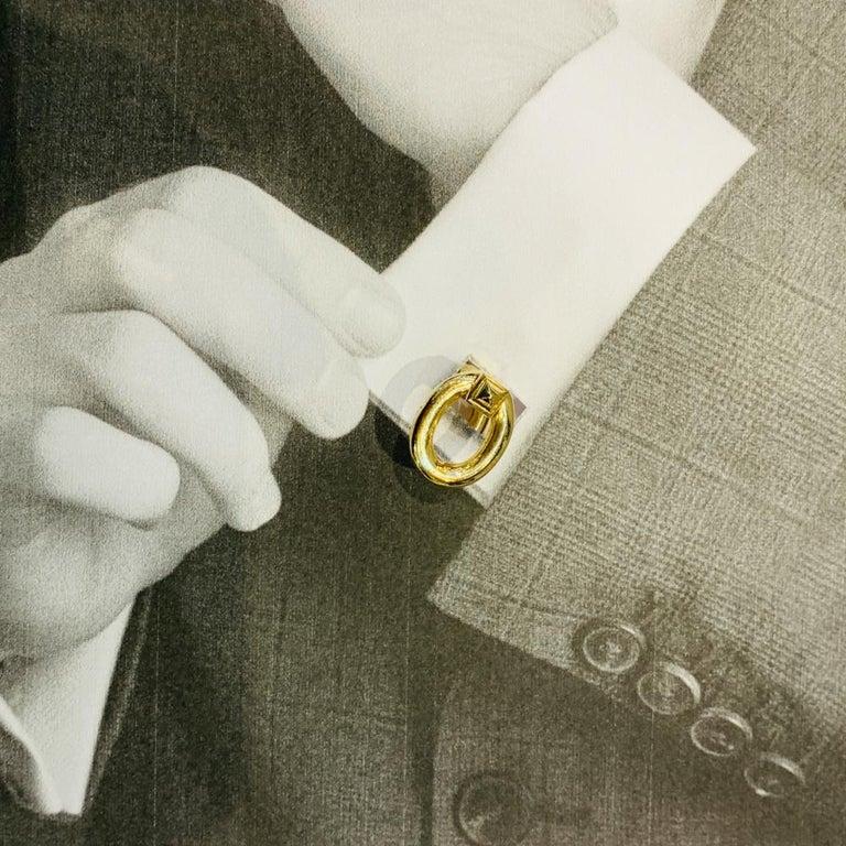 Cartier Stirrups Yellow Gold Cufflinks 2