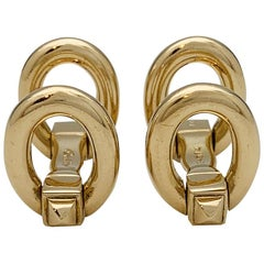Cartier Stirrups Yellow Gold Cufflinks