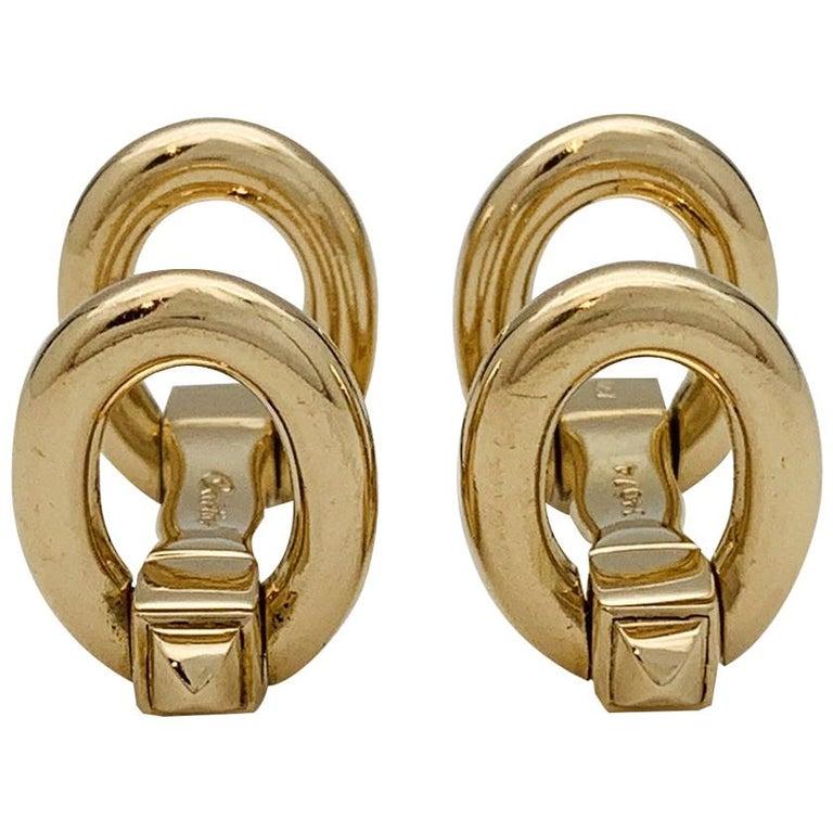 Cartier Stirrups Yellow Gold Cufflinks