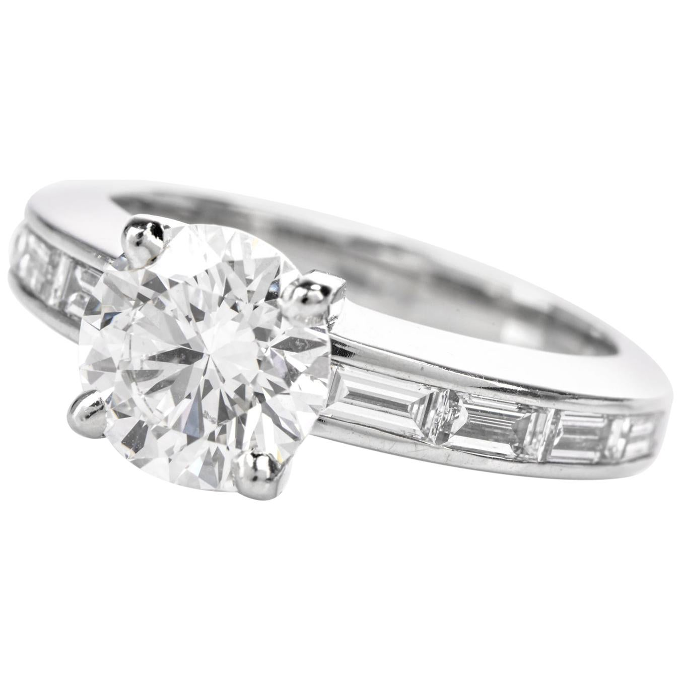 Cartier Su Solitaire GIA 1.73 Carat F-IF Diamond Engagement Ring