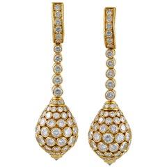 Cartier Taj Mahal Diamond Drop Earrings