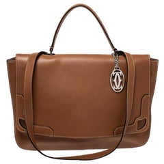 Cartier Tan Leather Marcello de Cartier Top Handle Bag
