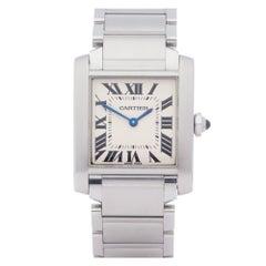 Cartier Tank 0 3751 Ladies Stainless Steel 0 Watch