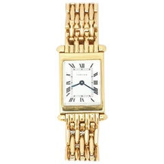Cartier Tank 18 Karat Gold Back Wind 1930s Bracelet Watch