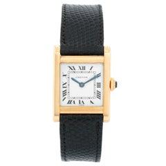 Cartier Tank 18 Karat Yellow Gold Men's Watch