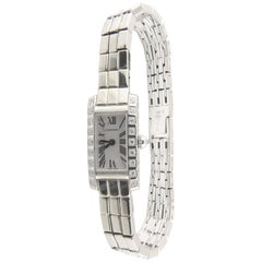 Cartier Tank Allongee Lanieres 2544 18 Karat White Gold Diamond Ladies Watch Box