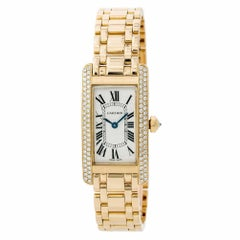 Cartier Tank Americaine 15000, Black Dial Certified Authentic