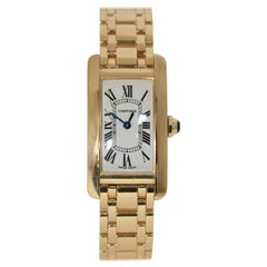 Cartier Tank Américaine 1710 Ladies 18 Karat Yellow Gold, Quartz Wristwatch