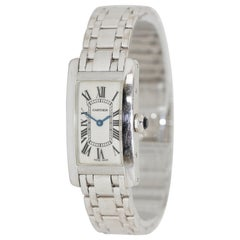 Cartier Tank Américaine 1713 Lady 18 Karat White Gold, Quarz