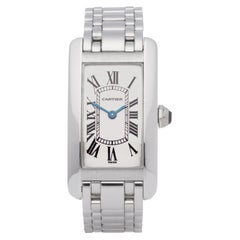Cartier Tank Americaine 1713 Men White Gold 0 Watch