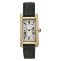 Cartier Tank Americaine 1720 Unisex Quartz Midsize Watch 18k Yellow Gold