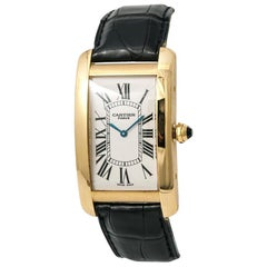 Cartier Tank Americaine 1735, Certified and Warranty