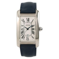 Cartier Tank Americaine 1741, Silver Dial, Certified and Warranty
