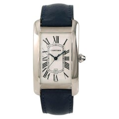 Cartier Tank Americaine 1741, White Dial, Certified and Warranty
