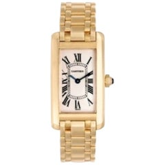 Cartier Tank Americaine 18 Carat Yellow Gold Ladies Watch
