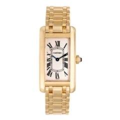 Cartier Tank Americaine 18 Carat Yellow Gold Ladies Watch