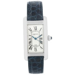Cartier Tank Americaine 18 Karat Gold Men's or Ladies Midsize Watch W2603656