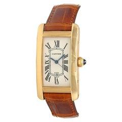 Cartier Tank Americaine 18 Karat Rose Gold Automatic Men's Watch W2620030
