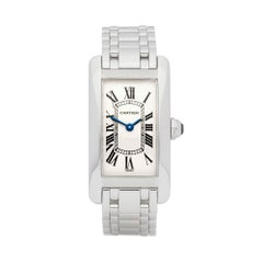 Cartier Tank Americaine 18 Karat White Gold 1713