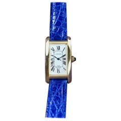 Cartier Tank Americaine 18 Karat Yellow Gold Automatic Watch