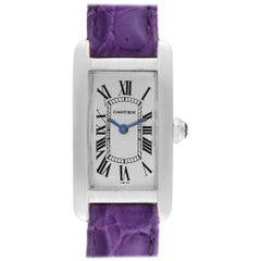Cartier Tank Americaine 18 Karat Yellow Gold Ladies Watch W2601556
