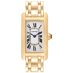 Cartier Tank Americaine 18 Karat Yellow Gold Ladies Watch W26015K2