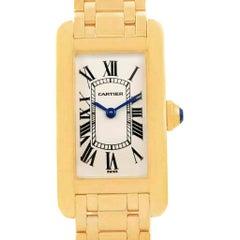 Cartier Tank Americaine 18 Karat Yellow Gold Ladies Watch W26015K2