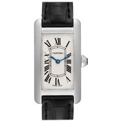 Cartier Tank Americaine 18 Karat Yellow Gold Ladies Watch W2601956
