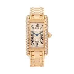 Cartier Tank Americaine 18 Karat Rose Gold Womens 1710 or WB7043JQ