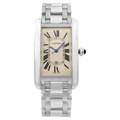 Cartier Tank Americaine 18 Karat Gold Cream Dial Automatic Men's Watch W2605511