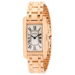 Cartier Tank Americaine 2503 Women's Watch in 18 Karat Rose Gold