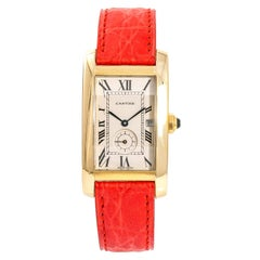 Cartier Tank Americaine 5220, Black Dial Certified Authentic