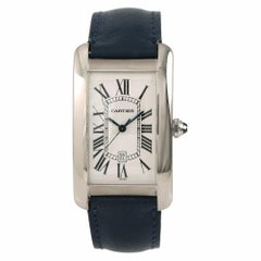 Cartier Tank Americaine 7200, Silver Dial Certified Authentic